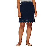 Quacker Factory DreamJeannes Smile N Style Scalloped Skort - A262376