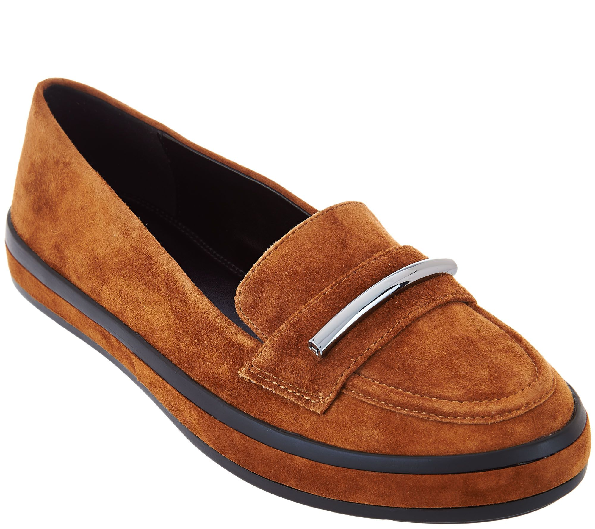 original online professional cheap price H by Halston Suede Slip-On Shoes with Hardware Detail - Brynn 9zF2835