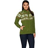 Aran Craft Merino Wool Snowflake Jacquard Cardigan - A282176