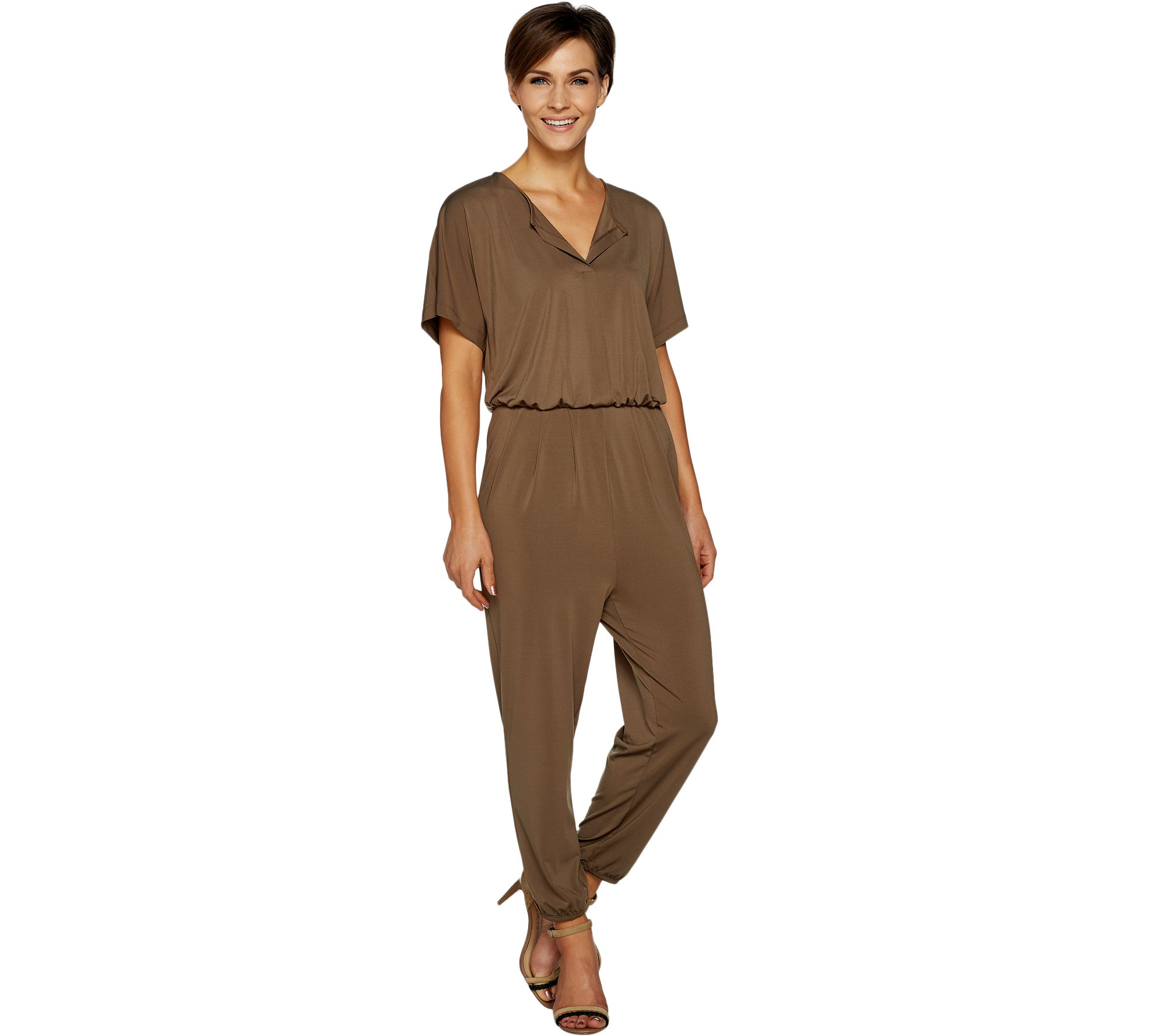 f810b647e42 Lisa Rinna Collection Petite Dolman Sleeve Knit Jumpsuit - Page 1 — QVC.com