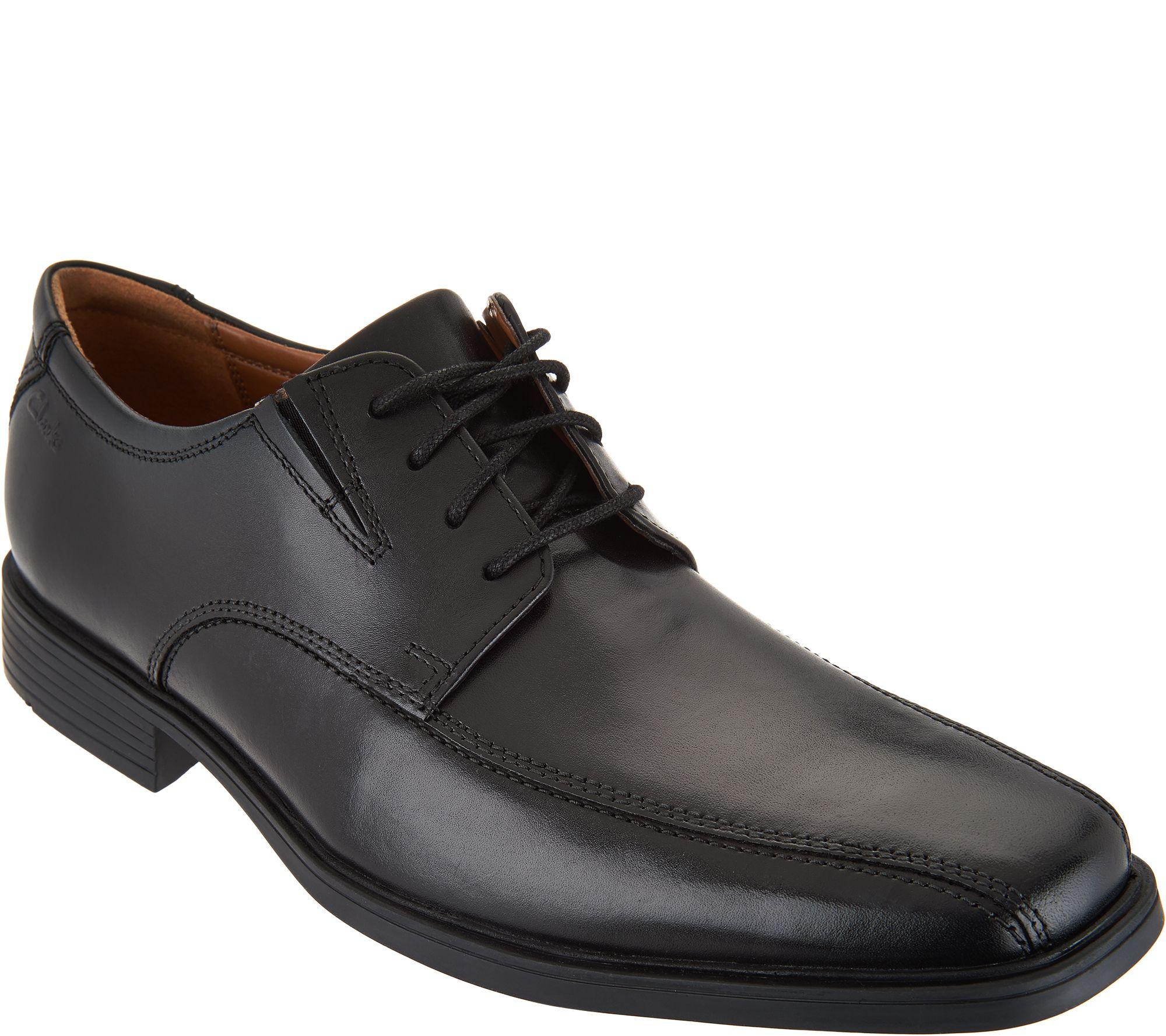 Clarks Men's Leather Lace-up Dress Shoes - Tilden Walk - Page 1 — QVC.com