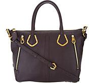 As Is orYany Pebble Leather Satchel Handbag - Nicole - A304276