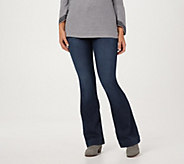Laurie Felt Tall Silky Denim Pull-On Flare Jeans - A309676