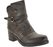 Miz Mooz Leather Buckle Mid Boots - Salma - A342076