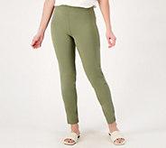 Susan Graver Petite Weekend Premium Stretch Slim-Leg Pants - A350176