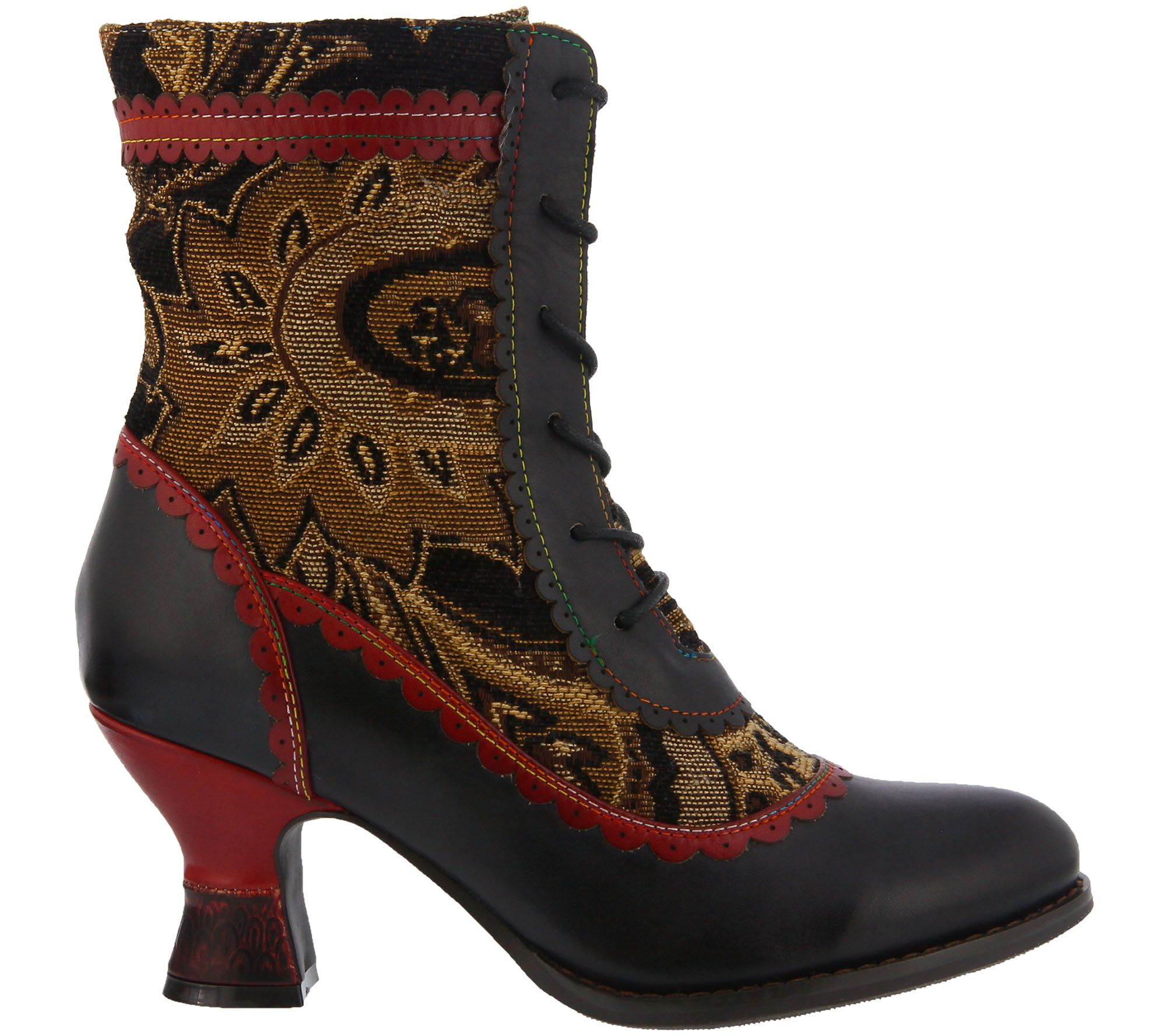 d678ba7bd4f36 L Artiste by Spring Step Leather and Textile Boots - Bewitch - Page 1 —  QVC.com