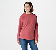 Denim & Co. Baby Sherpa Crew Neck Sweatshirt - A58076