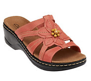 As Is Clarks Leather Slides w/ Bead Detail -Lexi Myrtle - A258177