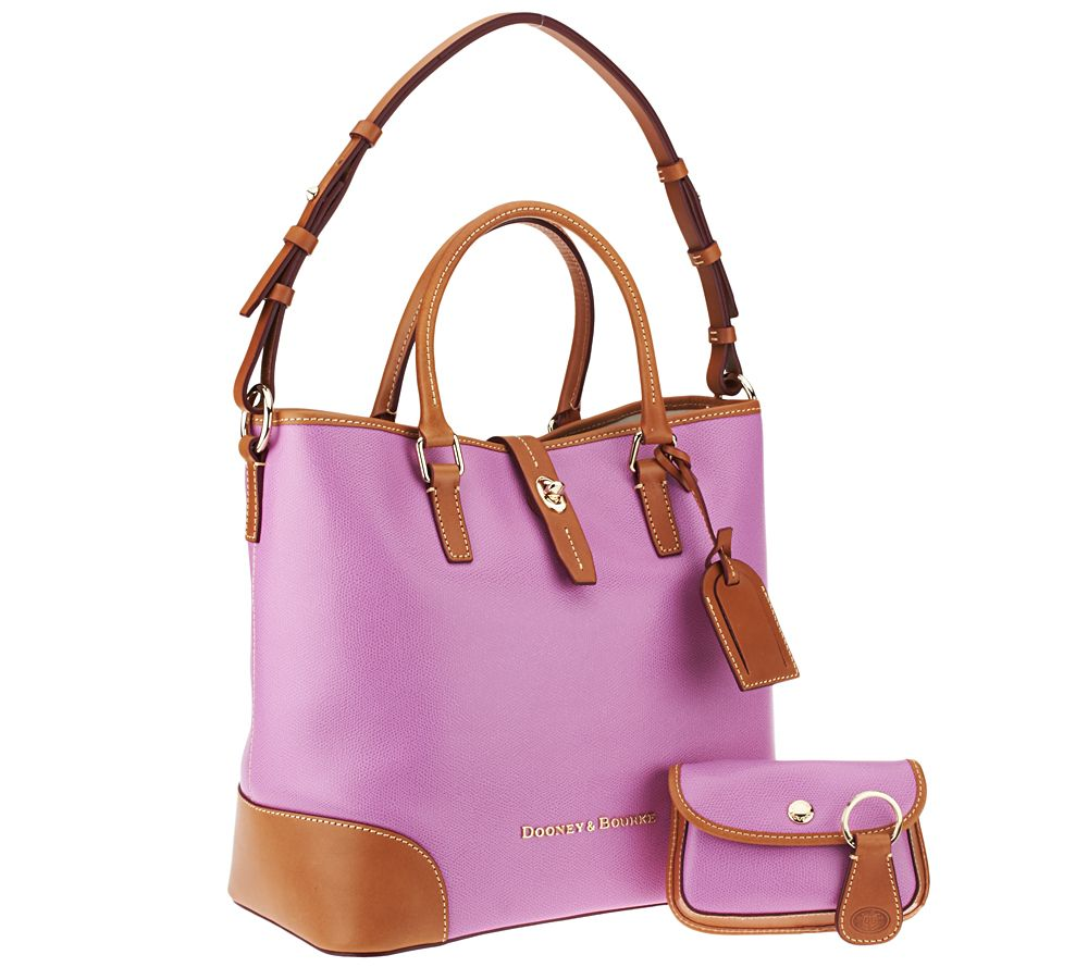 162cf49f73 Dooney   Bourke Embossed Pebble Leather Shelby Shopper with Wristlet - Page  1 — QVC.com