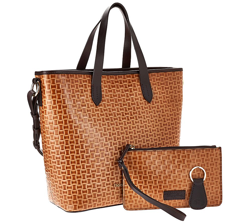 Dooney Bourke Woven Embossed Leather Per W Accessories Page 1 Qvc