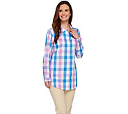 Joan Rivers Box Check Boyfriend Shirt - A273777