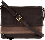 As Is Tignanello Pebble & Suede Leather Multi- Pckt Crossbody - A289077