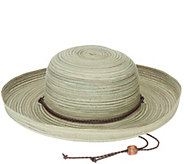 San Diego Hat Co. Mixed Braid Kettle Brim Sun Hat - A290677