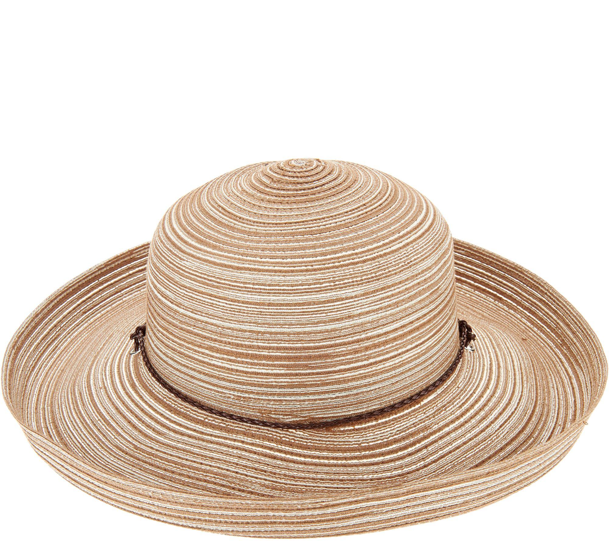 6481f68290cf3 San Diego Hat Co. Mixed Braid Kettle Brim Sun Hat - Page 1 — QVC.com