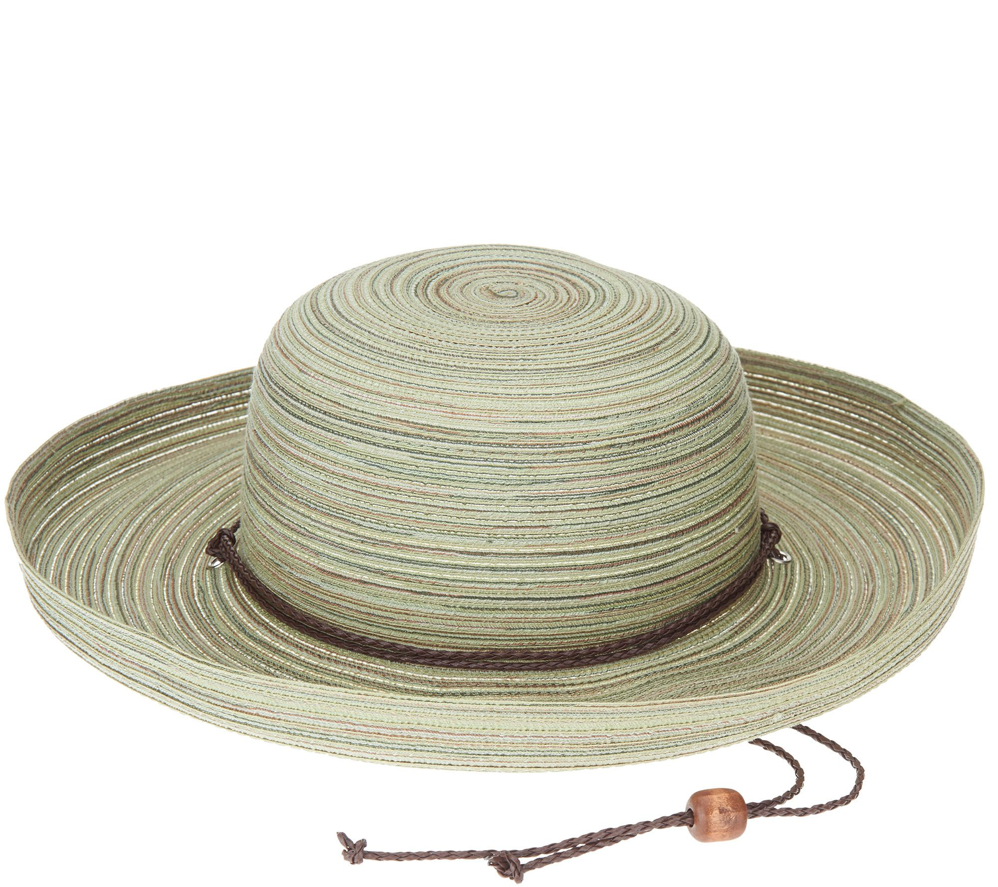 825f7aa01 San Diego Hat Co. Mixed Braid Kettle Brim Sun Hat — QVC.com