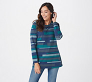 Denim & Co. Striped Perfect Jersey Round Neck Long Sleeve Tunic - A298777