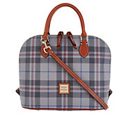 Dooney & Bourke Tiverton Plaid Zip Zip Satchel Handbag - A300777