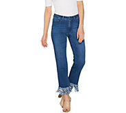 Women with Control Regular My Wonder Denim Fringe Jeans - A301377