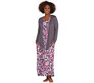 Carole Hochman Petite Elysian Floral Rayon Spandex Lounge Dress Set - A302177