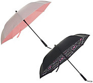 Revers-A-Brella Set of 2 Inverted Automatic Open Umbrellas - A309777