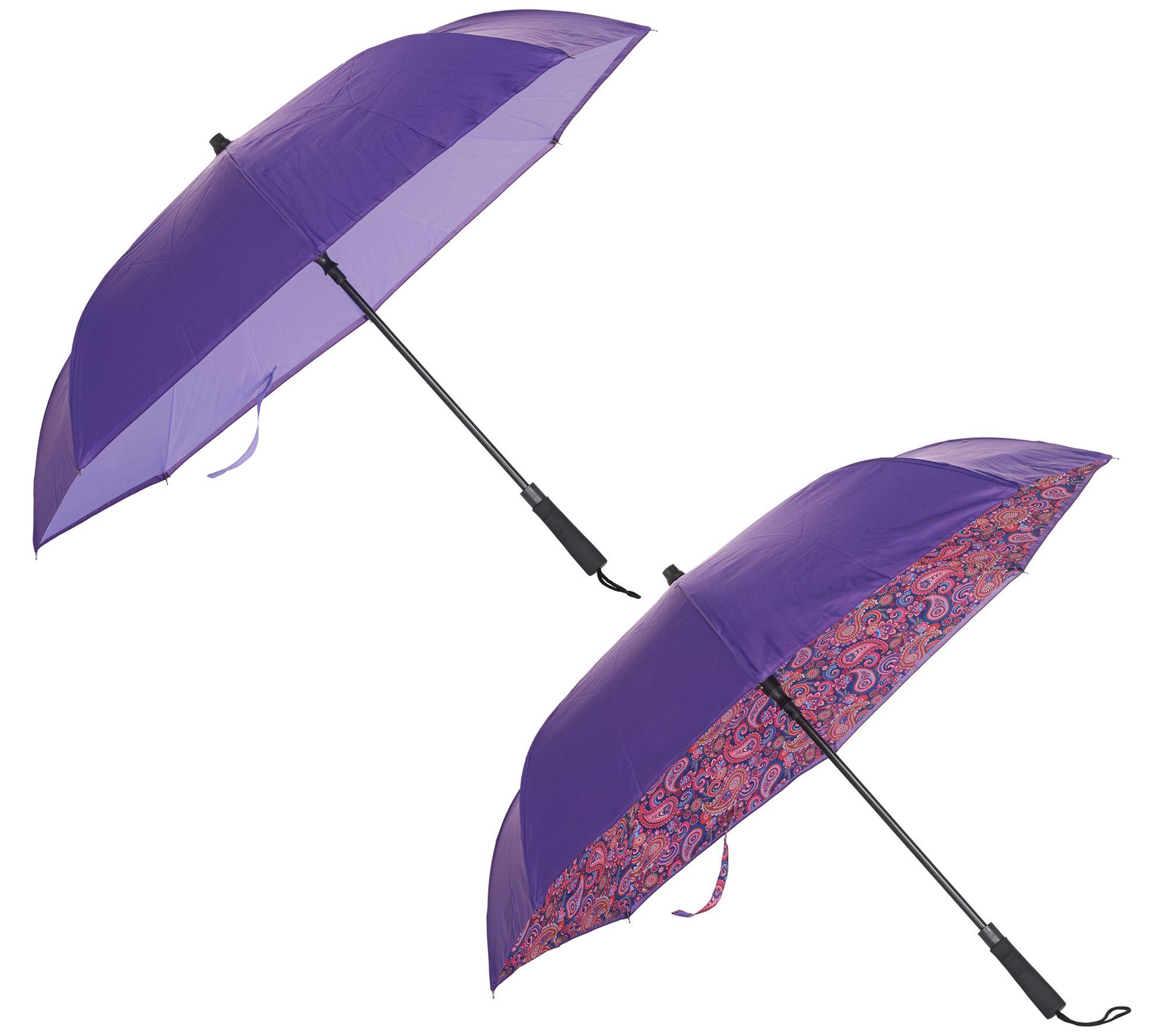 05253c7646a8 Revers-A-Brella Set of 2 Inverted Automatic Open Umbrellas — QVC.com