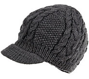 Nirvanna Designs Round Cable Cap with Visor andFleece - A331077