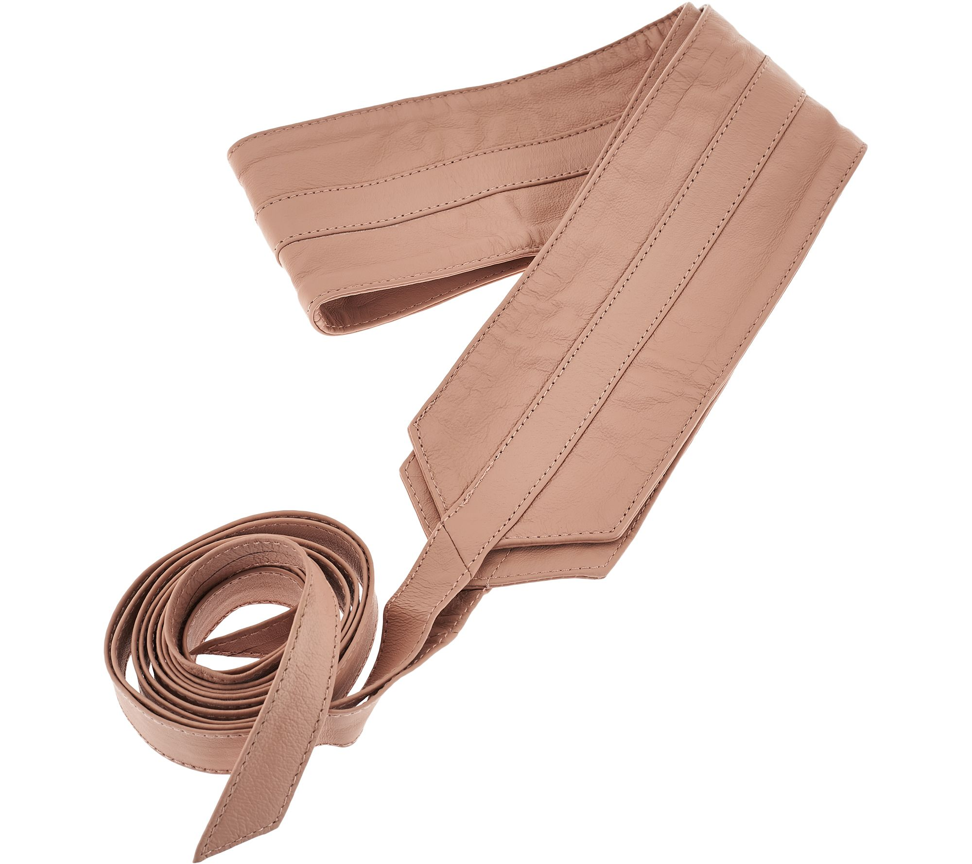 b942085a77 G.I.L.I. Leather Obi Wrap Belt - Page 1 — QVC.com