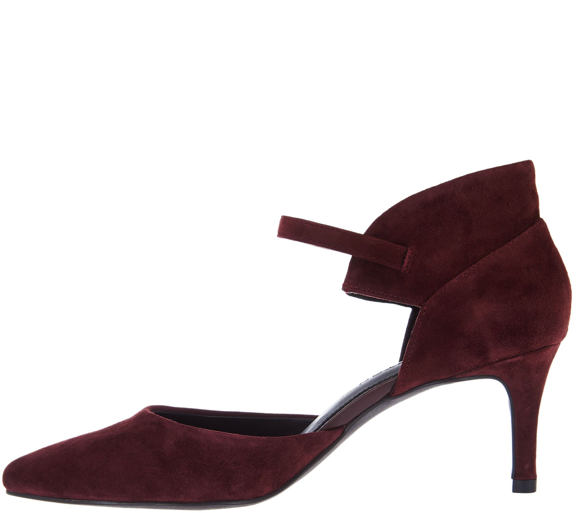 H by Halston Suede Heels with Adjustable Ankle Strap - Laurie clearance supply buy cheap get to buy cheap affordable sale official okdrwbtrOw