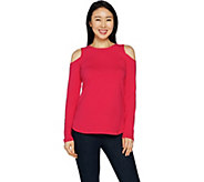 Women with Control Cold-Shoulder Knit Top - A292378