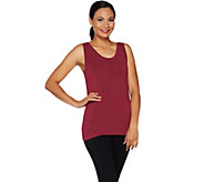 Cuddl Duds Softwear Stretch Reversible Scoop Crew Tank - A293078