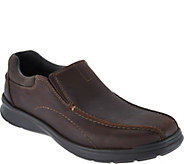 Clarks Mens Leather Slip-on Shoes - Cotrell Step - A297178