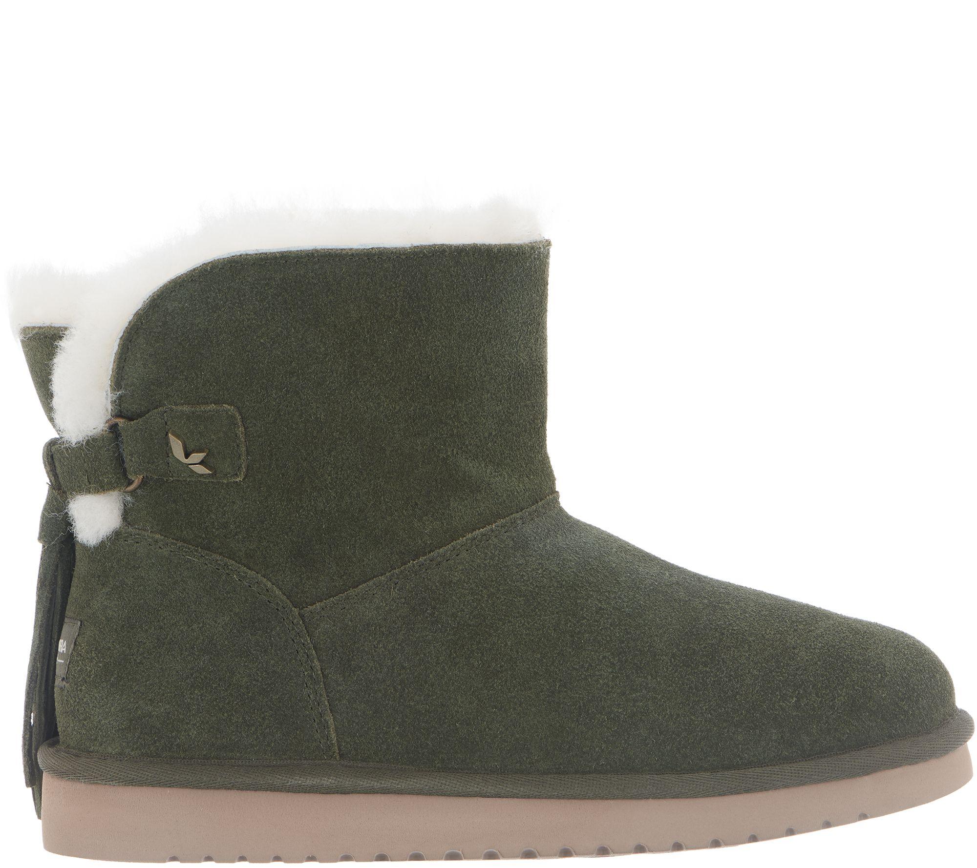 3e7c318888e Koolaburra by UGG Suede Tassel Mini Boots - Jaelyn - Page 1 — QVC.com