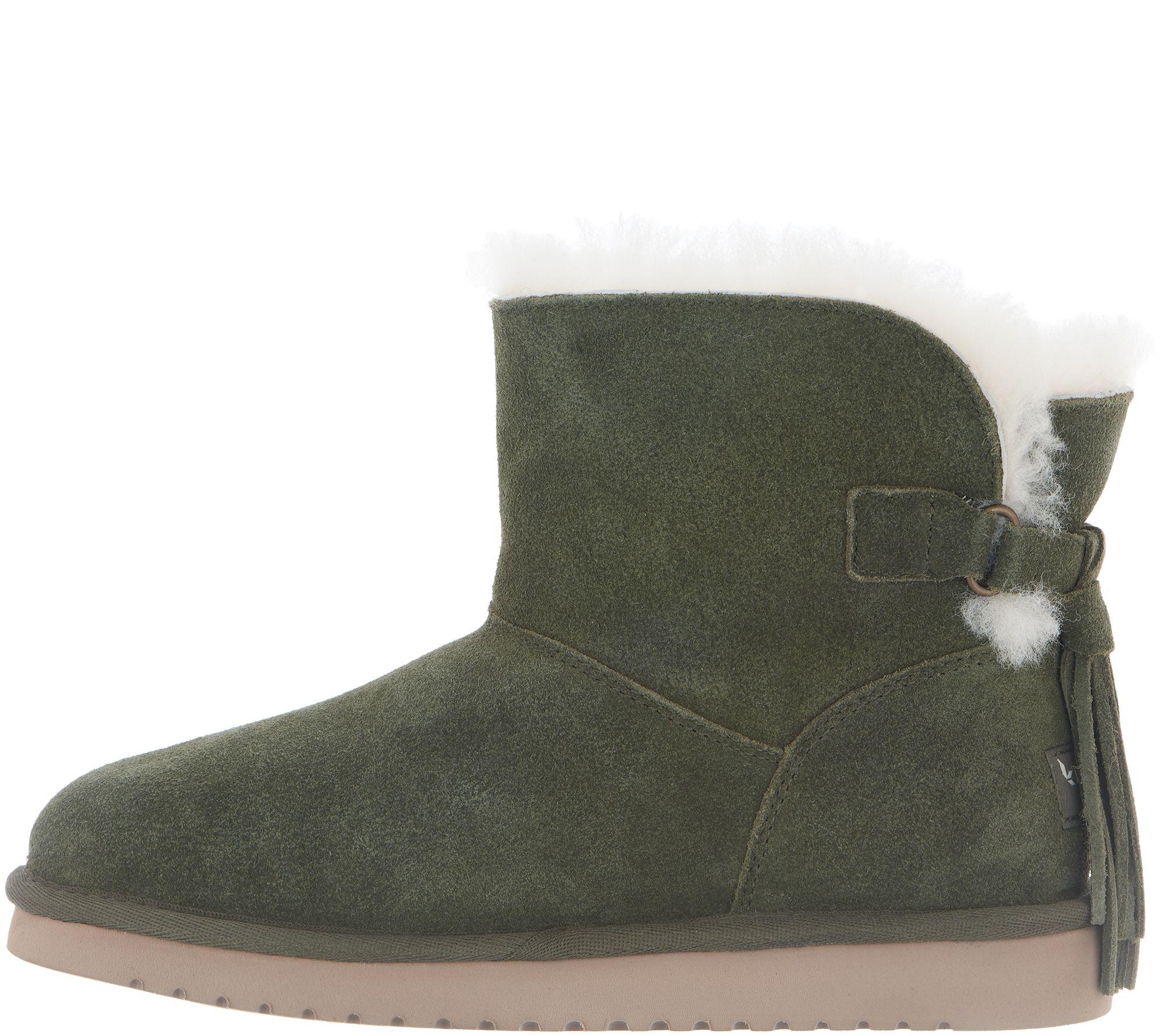0986fa2afcd Koolaburra by UGG Suede Tassel Mini Boots - Jaelyn — QVC.com