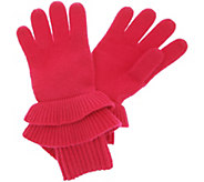 Isaac Mizrahi Live! 2-Ply Cashmere Ruffle Gloves - A343878