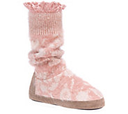 MUK LUKS Lace Tall Slippers - Vanessa - A362478