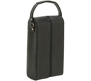 Le Donne Leather Two-Bottle Wine Tote