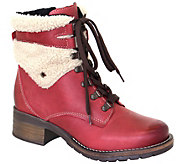 Dromedaris Leather Lace-Up Ankle Boots - Kara Shearling - A416278