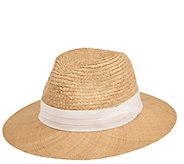 c6aa39529 San Diego Hat Co. Men's Raffia Braid Fedora Hat