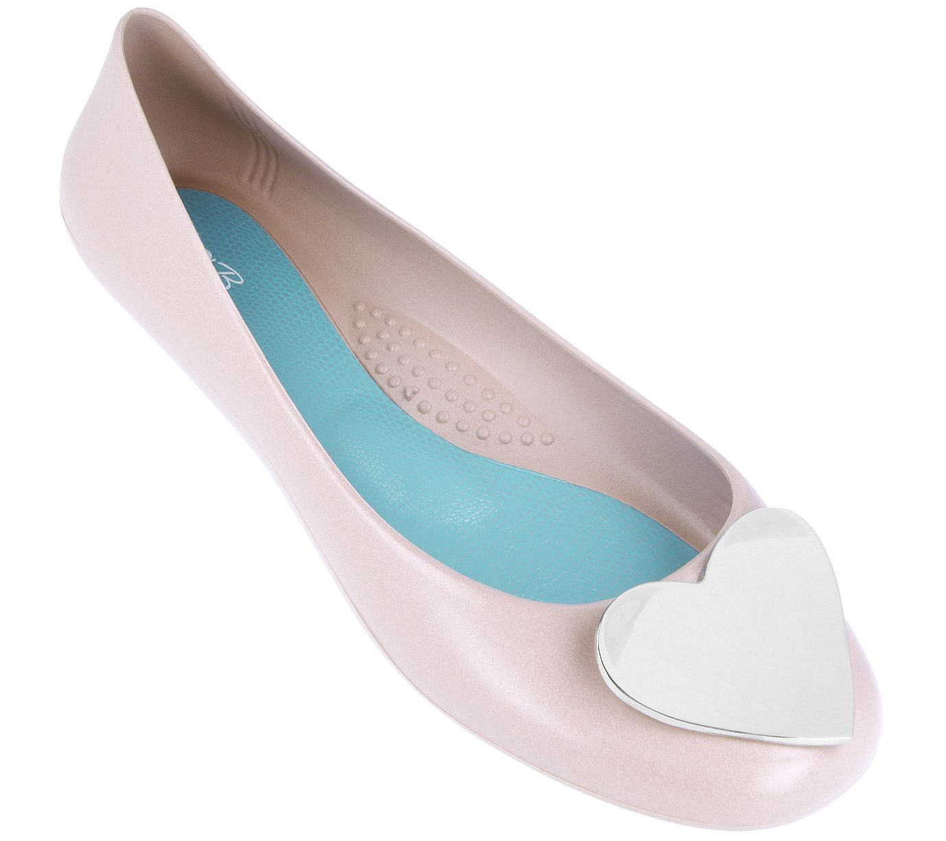 f816b4cdb Oka-B Heart Embellishment Ballet Flats - Adelpha — QVC.com
