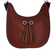 C. Wonder Pebble Leather Hobo Handbag with Hardware & Tassel Detail - A277979