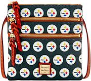 Dooney & Bourke NFL Steelers Triple Zip Crossbody - A285679