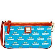 Dooney & Bourke NFL Chargers Large Slim Wristlet - A285779