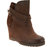 Miz Mooz Leather Wedge Ankle Boots - Narcissa - A296779