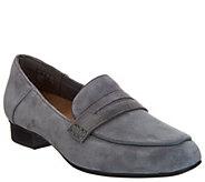 Clarks Artisan Suede Heeled Loafers - Keesha Cora - A297779