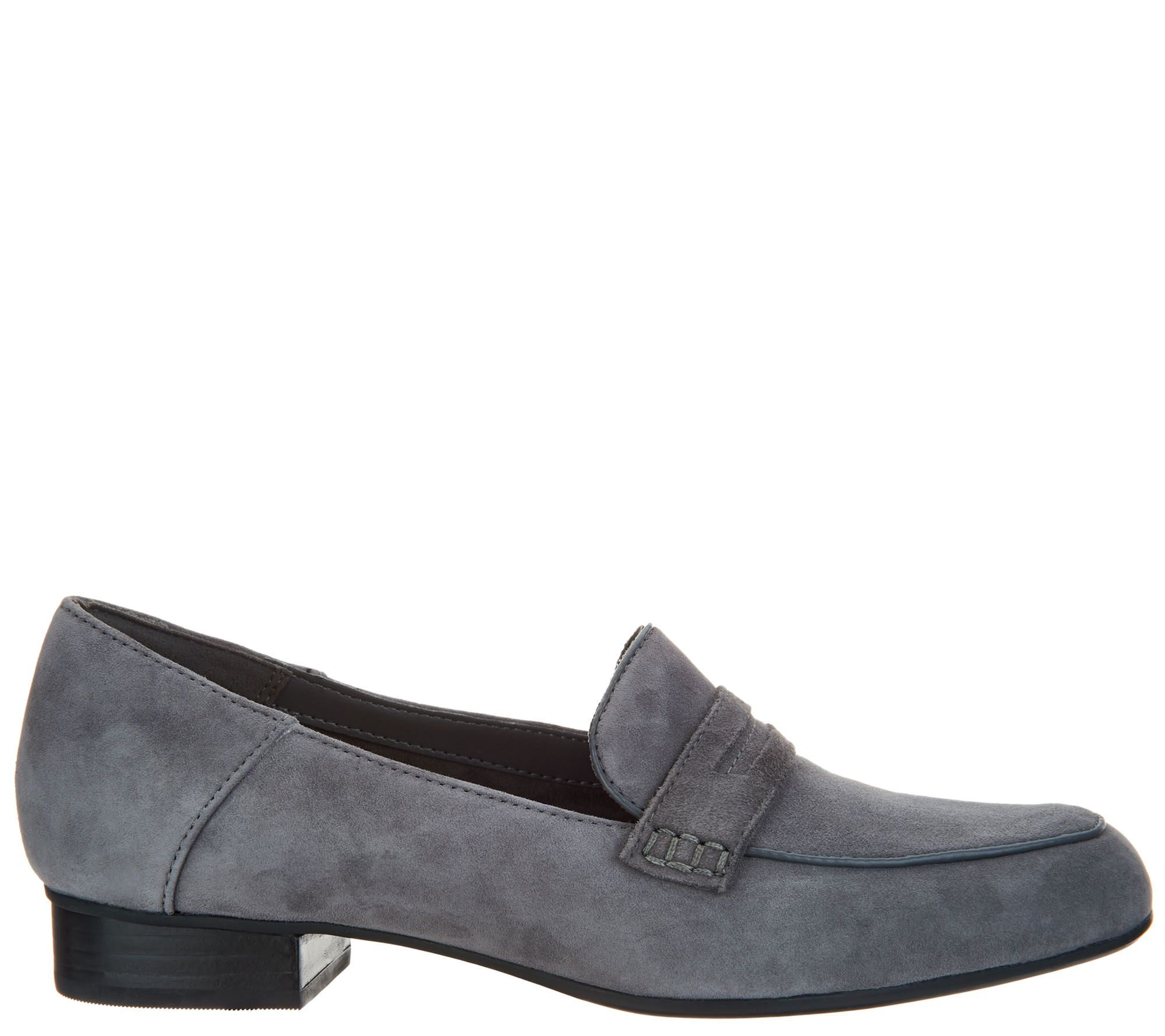 9db5db6f584 Clarks Artisan Suede Heeled Loafers - Keesha Cora - Page 1 — QVC.com