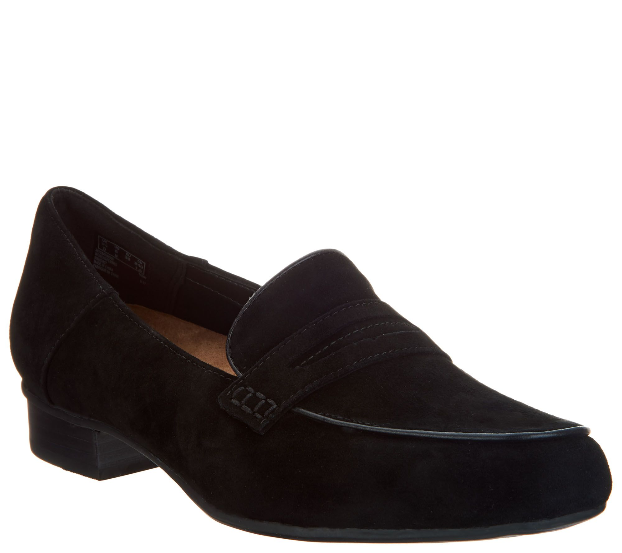 b22be8c5960 Clarks Artisan Suede Heeled Loafers - Keesha Cora - Page 1 — QVC.com
