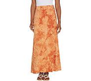 Belle by Kim Gravel TripleLuxe Knit Tie Dye Maxi Skirt - A306979