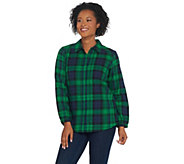 Joan Rivers Perfect Plaid Shirt with Long Sleeves - A309779