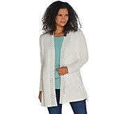 Dennis Basso Sweater Cardigan w/ Cut-Out Detail - A311279
