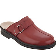 As Is Clarks Leather Slip-On Clogs- Patty Lorene - A349879